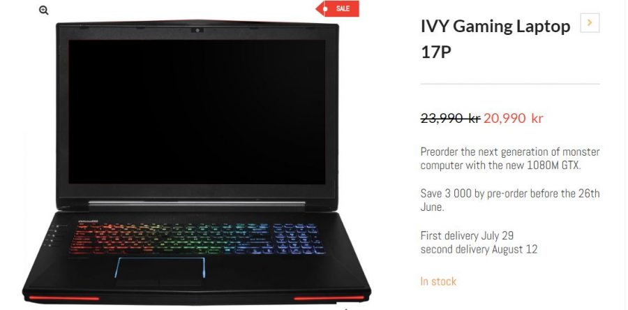 ivy gaming laptop with gtx 1080m