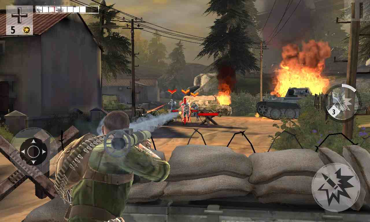 best shooting games for android Brothers In Arms 3