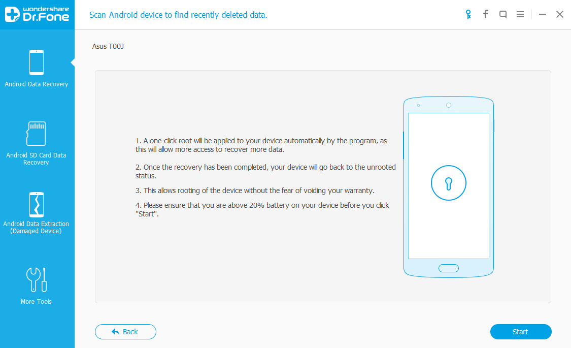 dr.fone root confirmation