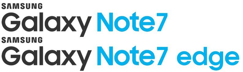 galaxy note 7 note 7 edge logos