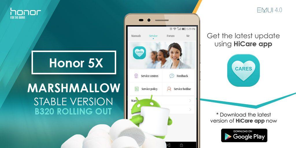 huawei honor 5x marshmallow update