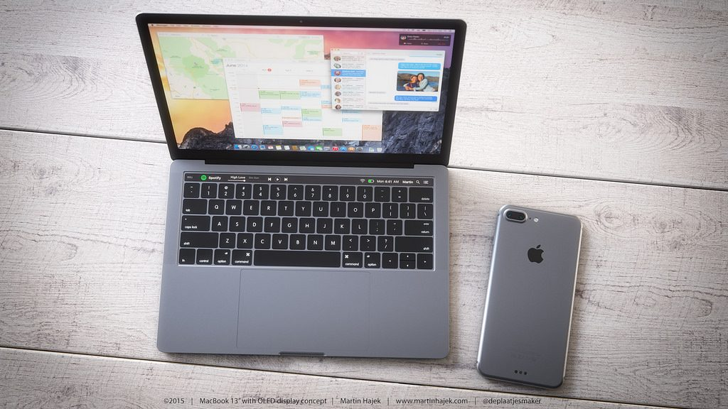 macbook pro 2016 with iphone 7