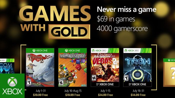 Xbox Live Games with Gold July 2016