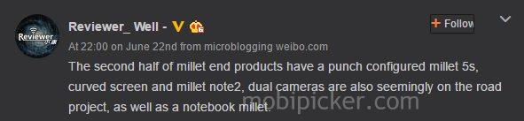 xiaomi mi5s mi note 2 leak