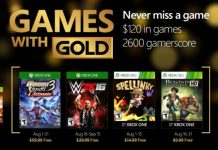 Xbox Games with Gold August 2016