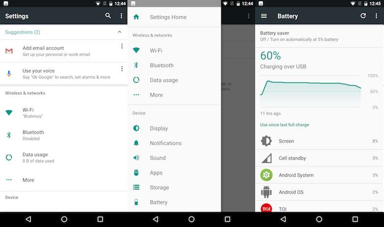 android n settings