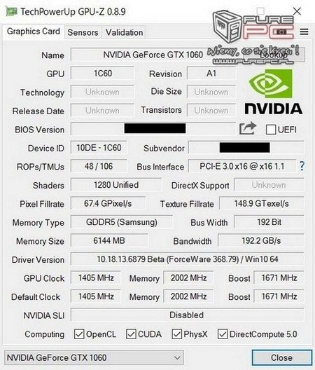 GTX 1060 mobile GTX 1070