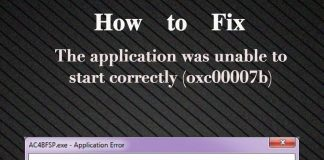 The application was unable to start correctly (oxc00007b)