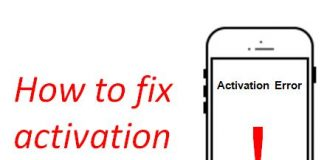 iphone activation error