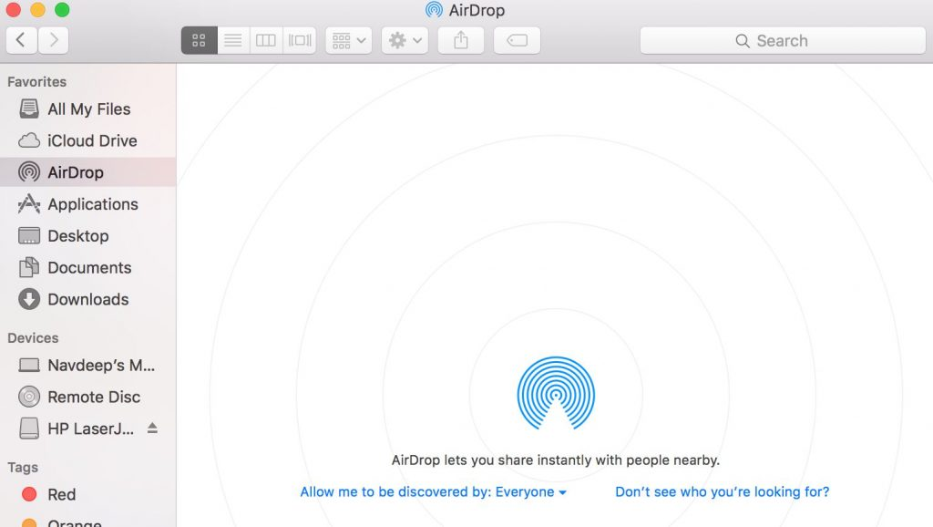 airdrop doesn't work