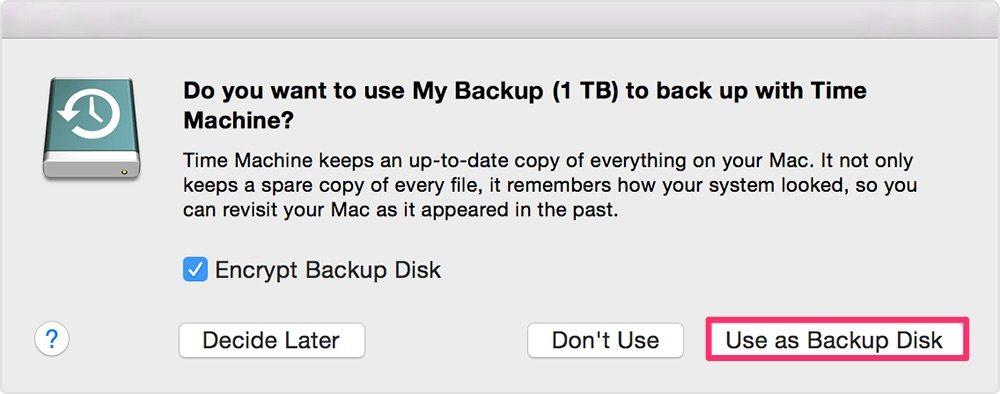 backup mac with timemachine