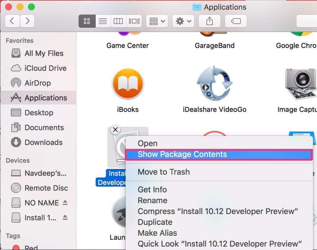 create macos sierra usb install drive
