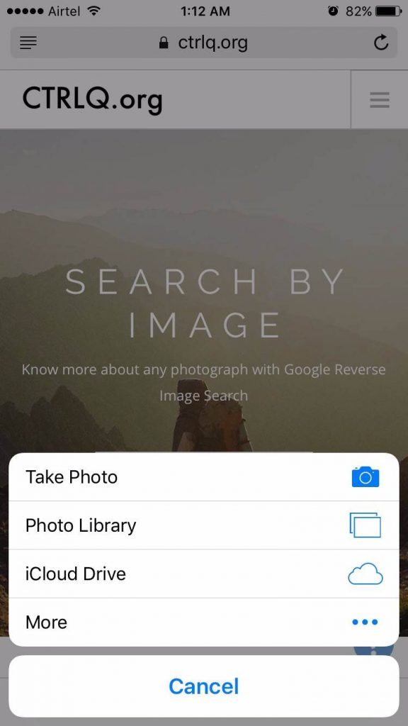 reverse image search android