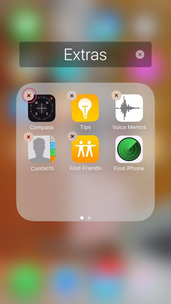 how to remove stock apps on ios 10