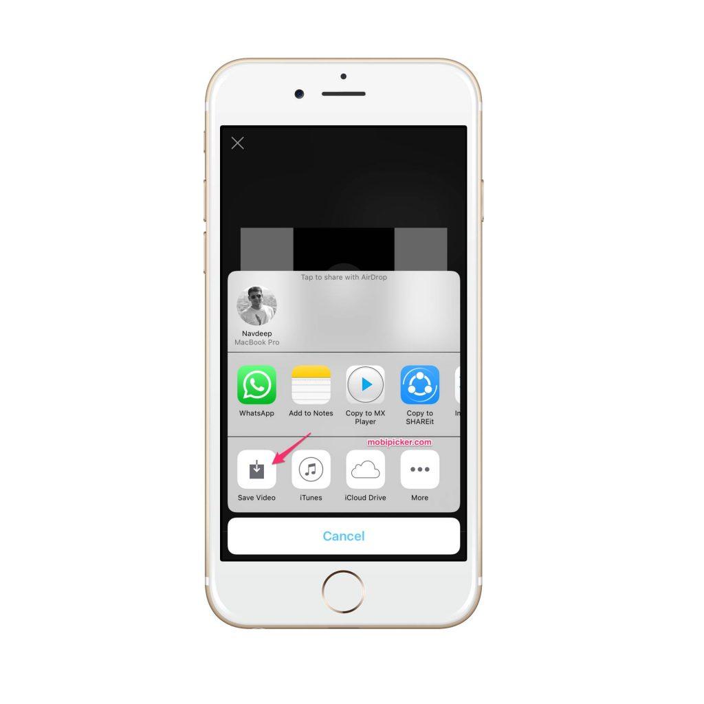 iphone video rotate