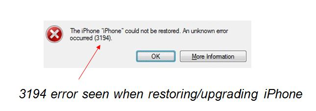 How to Fix iTunes Error 3194 on iPhone / iPad [Solved]