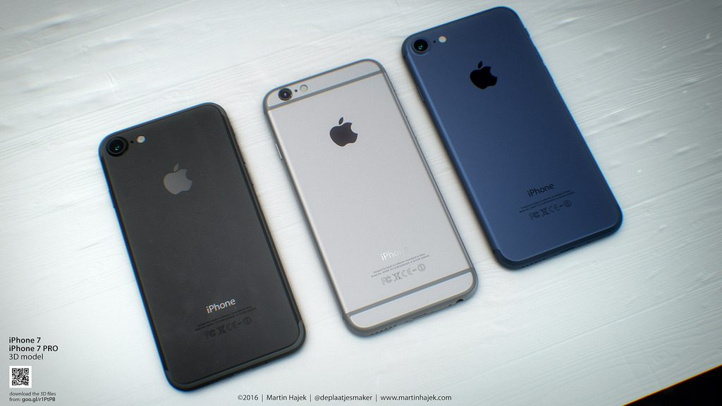 iphone 7 space black and deep blue