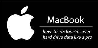 macbook pro restore and recover