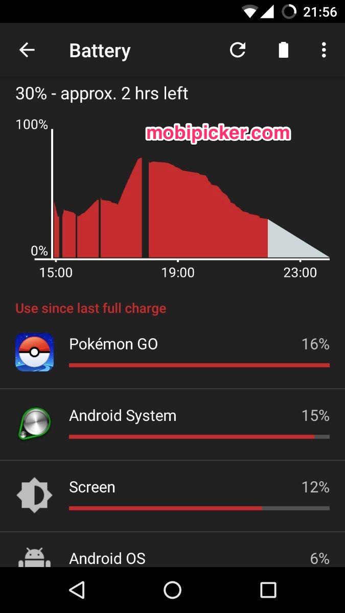 pokemon go battery consumption