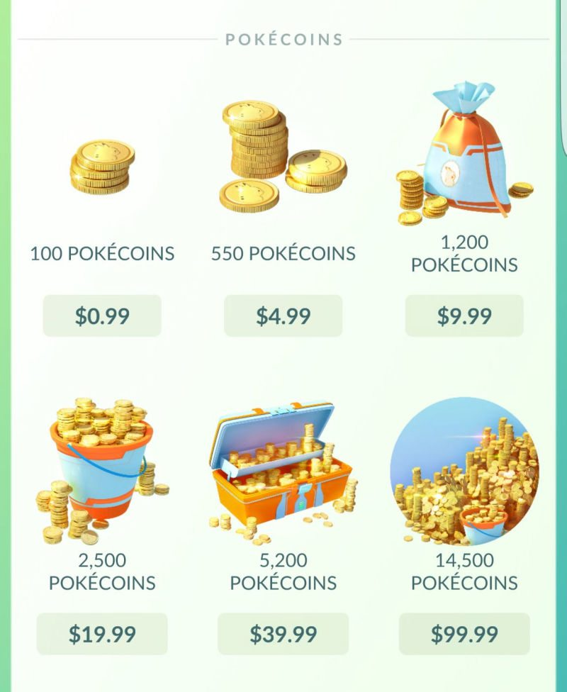 pokemon go pokecoins real cost