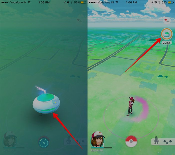 pokemon go tap to activate incense