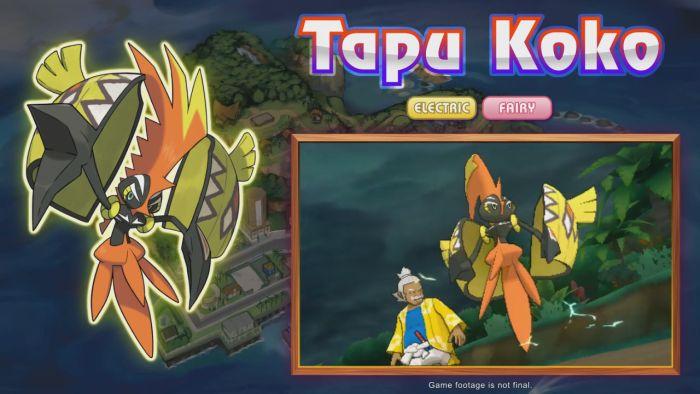 Pokémon Sun and Moon Tapu Koko