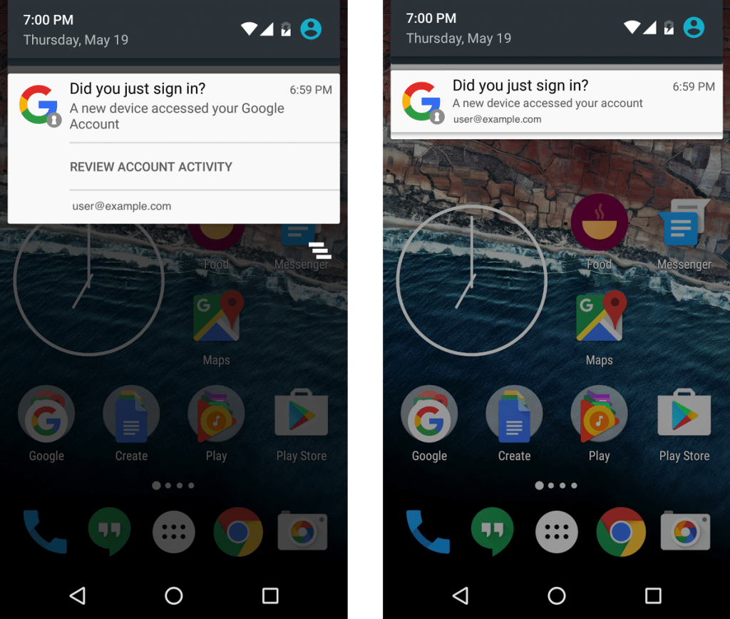 Newly added device notification