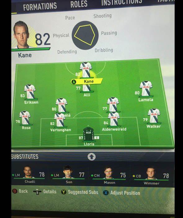 FIfa 17 Tottenham