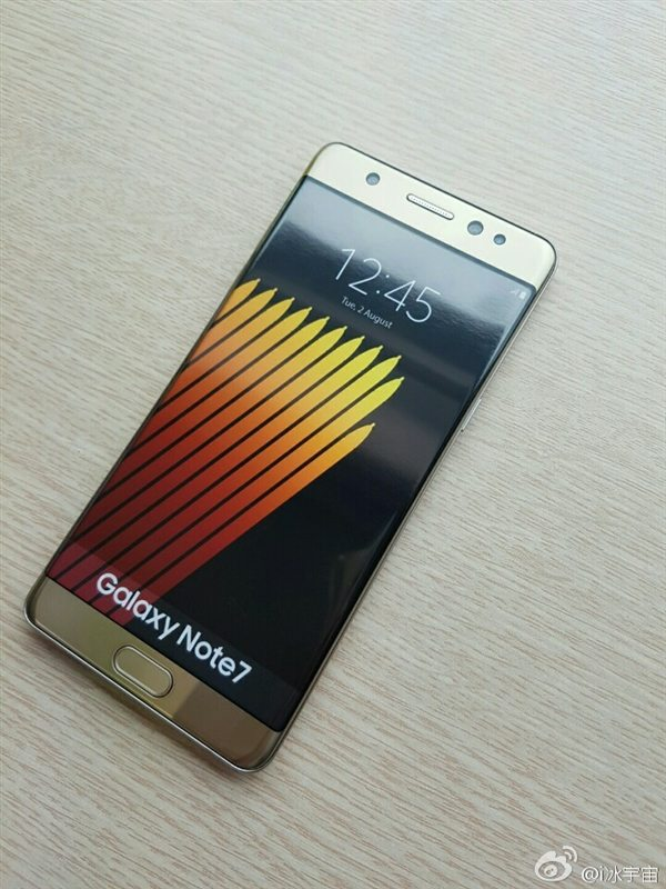 Galaxy Note 7 caught on camera
