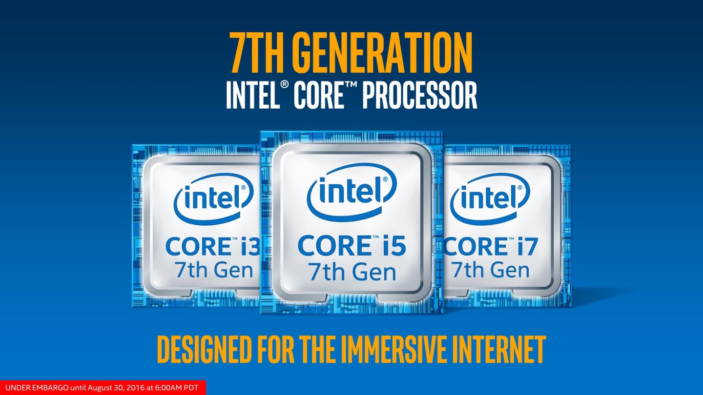 Intel Officially Unveils Its 7th gen Kaby Lake Processors