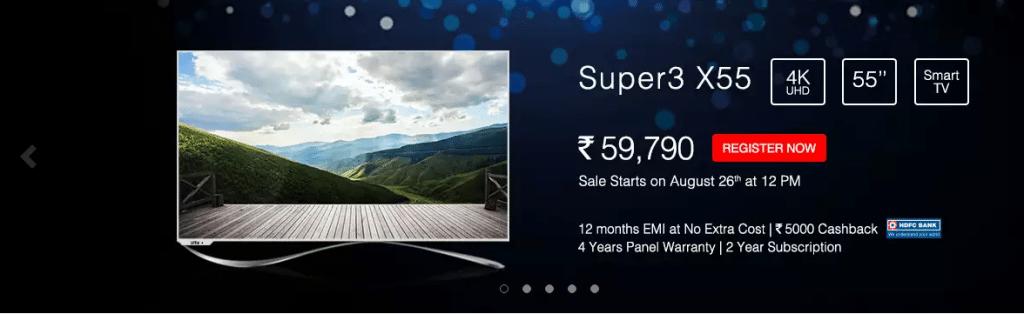 LeEco's Super3 Series Flash Sale