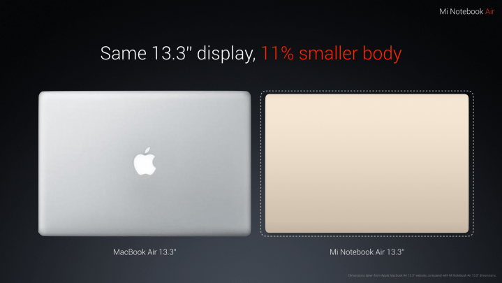 MacBook Pro 2016 release date Xiaomi Mi Notebook Air better option