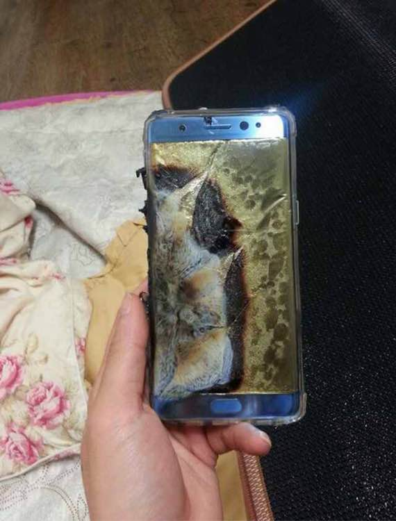 Samsung Galaxy Note 7 burnt (1)