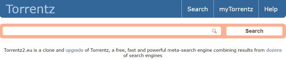 home page of torrentz2.eu