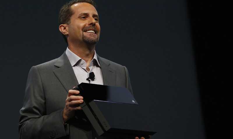 LOS ANGELES, CA - JUNE 10: Andrew House, President and Group CEO Sony Computer Entertainment Inc., holds up a Playstation 4 at the Sony Playstation E3 2013 press conference June 10, 2013 in Los Angeles, California. Thousands are expected to attend the annual three-day convention to see the latest games and announcements from the gaming industry. Eric Thayer/Getty Images/AFP== FOR NEWSPAPERS, INTERNET, TELCOS & TELEVISION USE ONLY ==