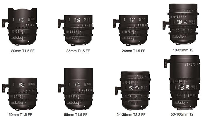 Eight New Sigma E-mount Cine Lenses Announced