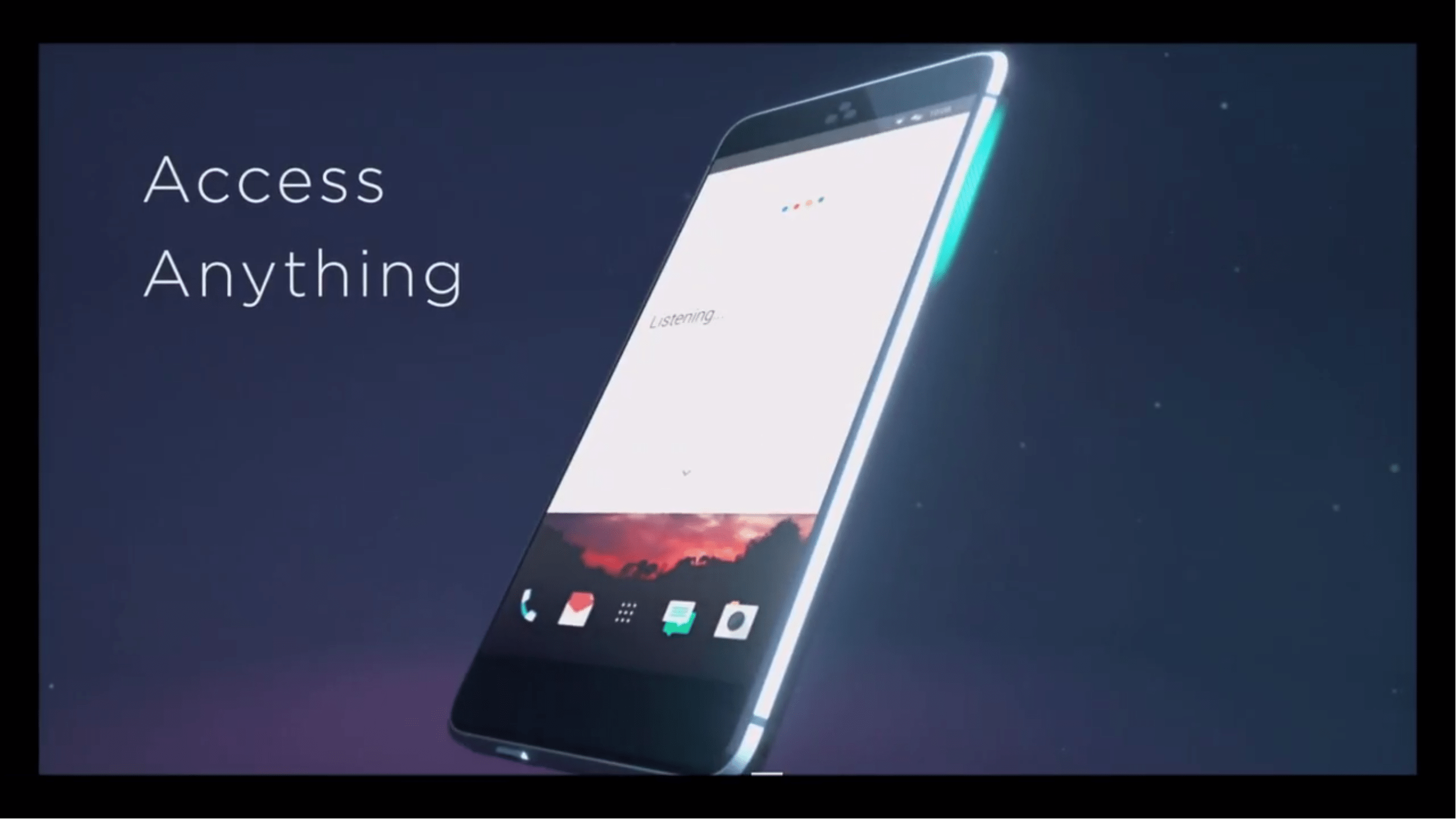 HTC Ocean with Touch-Sensitive Frame.