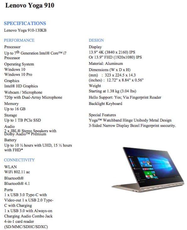 Lenovo Yoga 910 Specs Moto Z Play