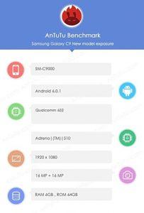 Samsung Galaxy C9 Benchmark