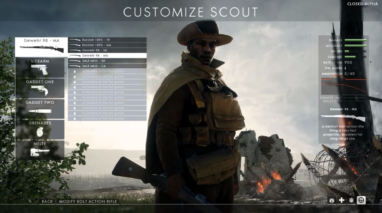 battlefield 1 beta scout