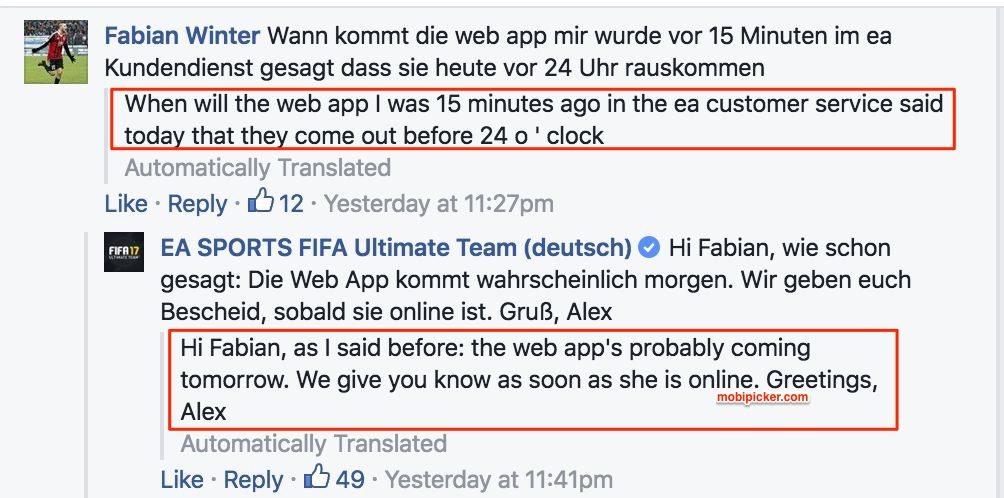 fifa 17 web app release details