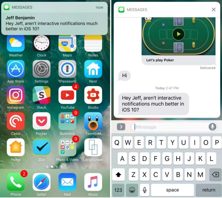 You can now view the complete conversation in quick reply (image source: 9to5 Mac)