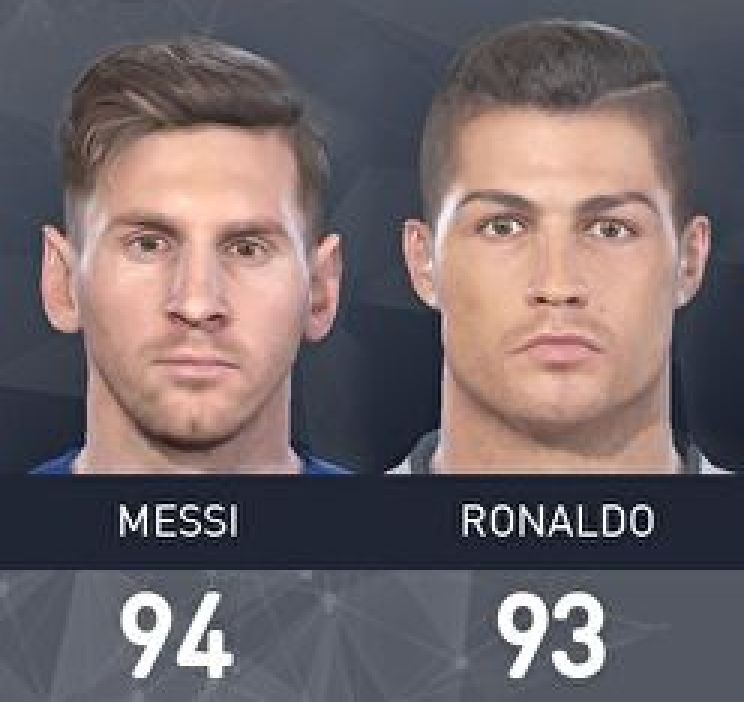 pes 2017 player ratings
