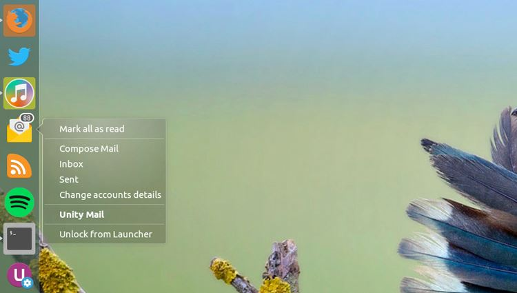 Unity Mail on Ubuntu 16.04 LTS (image source: omgubuntu)
