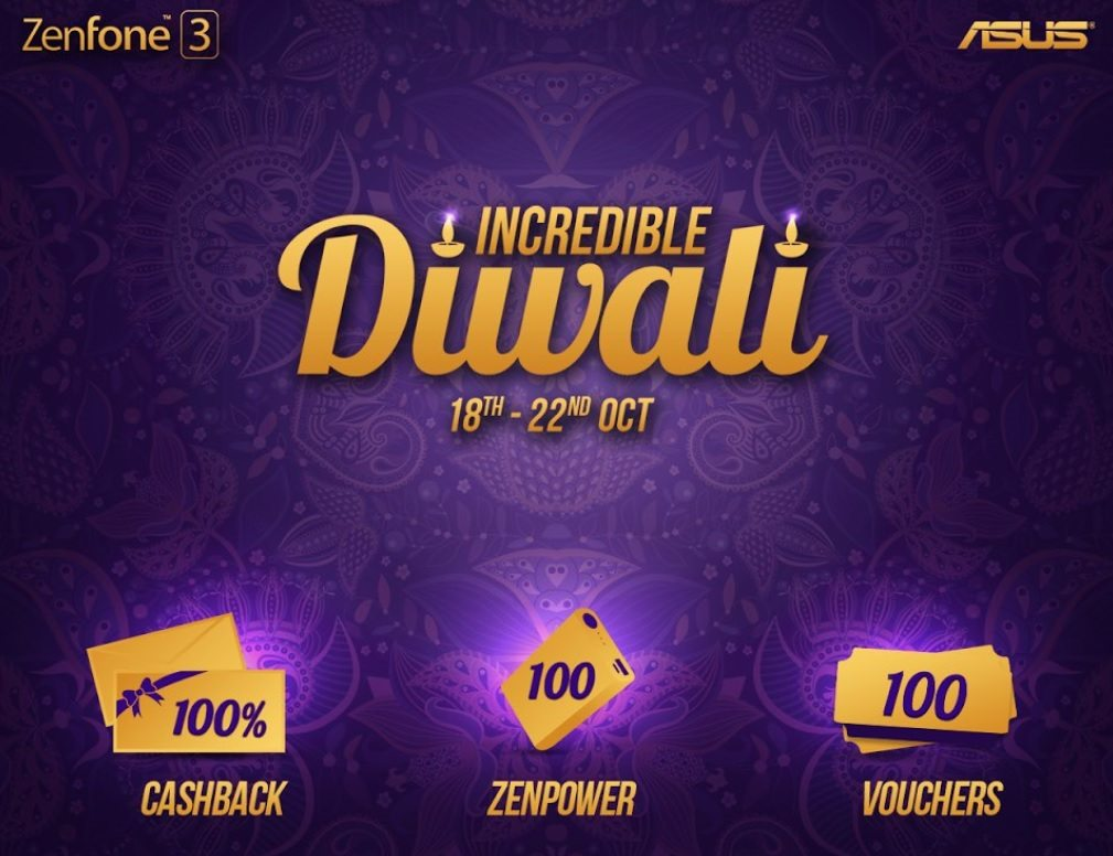 ASUS Incredible Diwali Offer Announced For Zenfone, Notebooks, More
