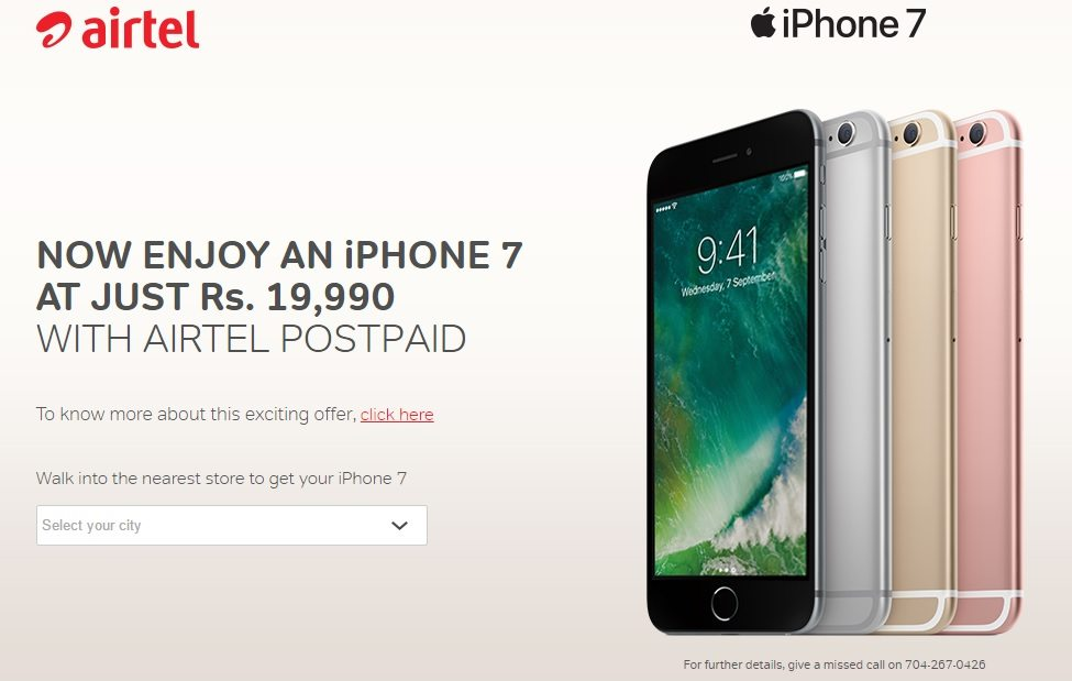 Airtel To Offer 10GB Free 3G4G Data With Apple iPhone 7 Models