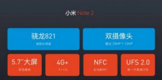 Xiaomi Mi Note 2 To Sport Iris Scanner Specifications & Price Leaked