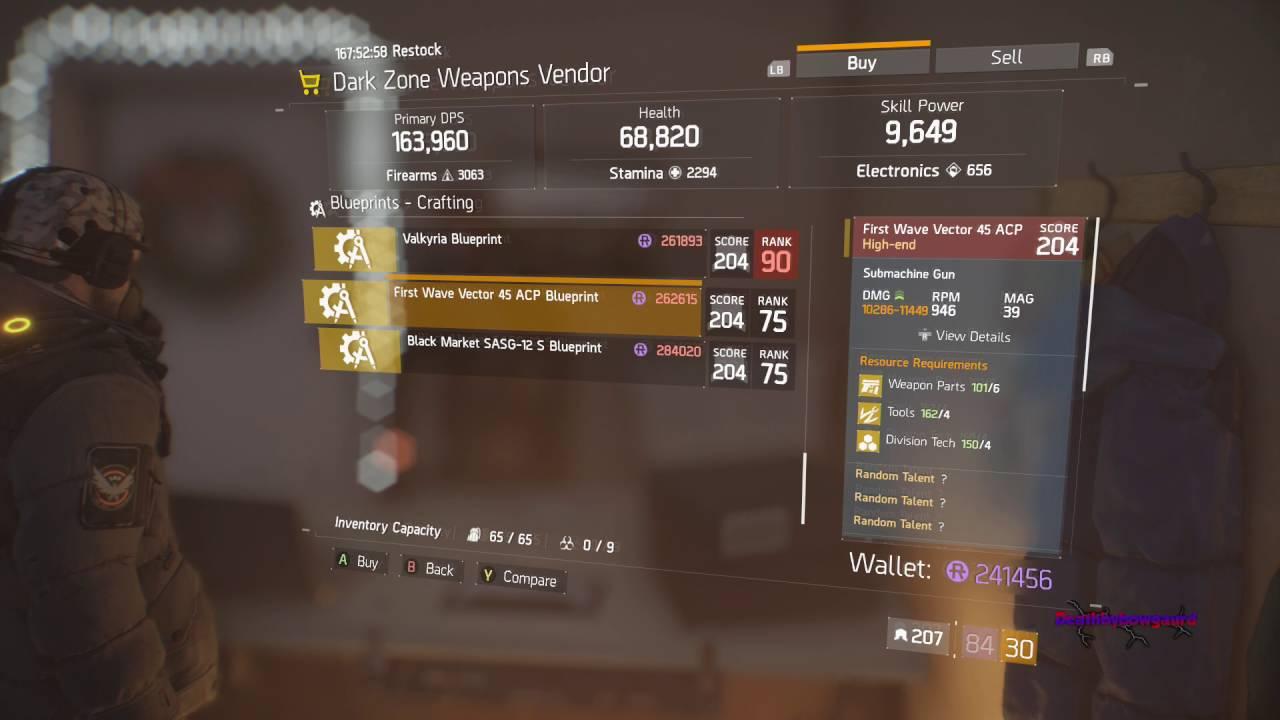 the division vendor reset