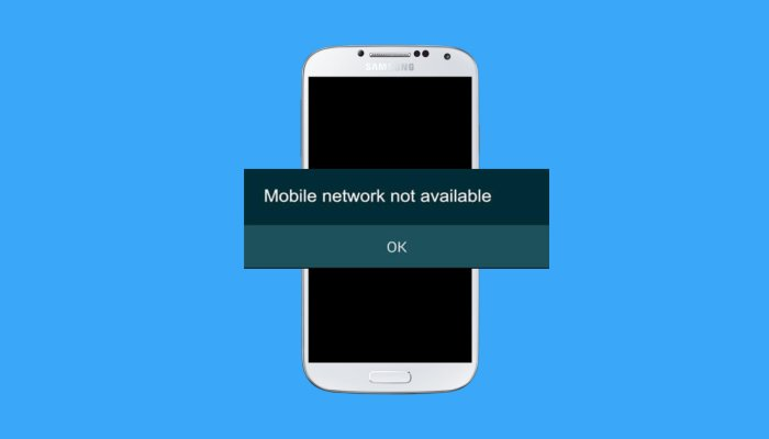 5 Ways to Fix 'Mobile Network Not Available' Error in