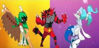 pokemon sun and moon starter final evolutions